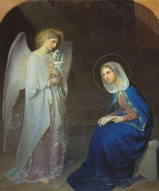 Благая весть в городе Назарет - деве Марие от Гавриила