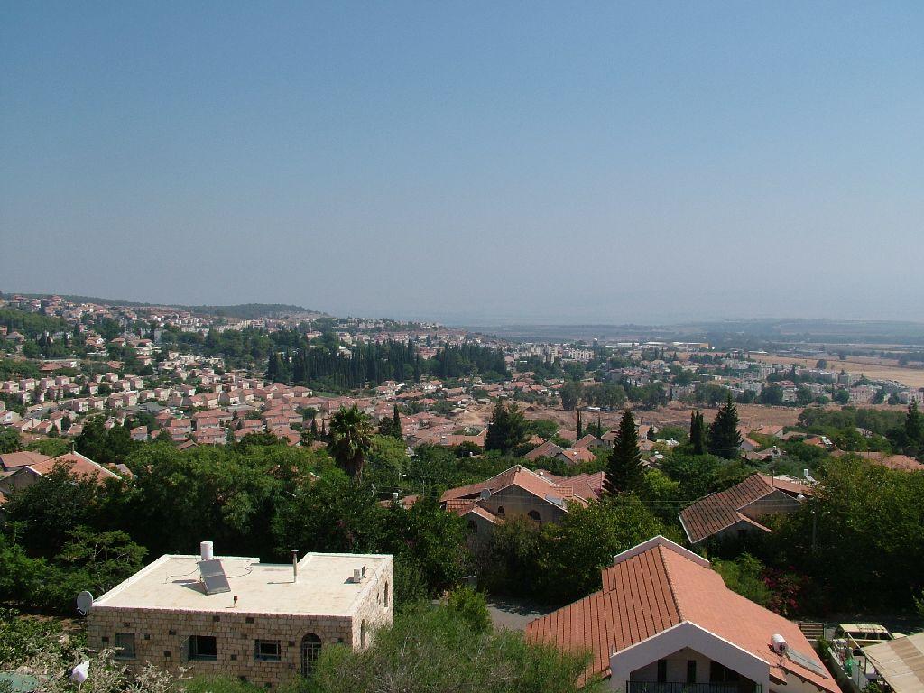 Вид на город Рош Пина - (краеугольный камень) - Галилея - Израиль